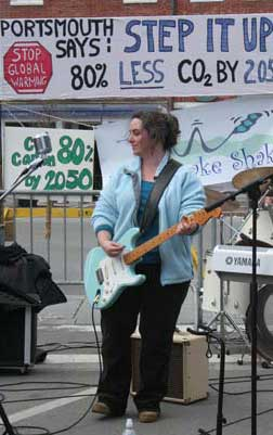 Dyanna plays at Step it Up Portsmouth